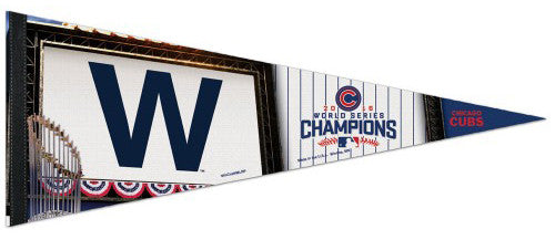 Chicago Cubs 2016 World Series Champions Premium Felt Collector's Pennant - Wincraft