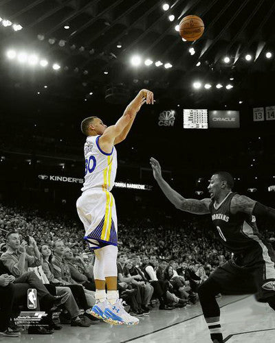"Stephen Curry ""Spotlight"" Golden State Warriors Premium NBA Basketball Poster Print - Photofile 16x20"