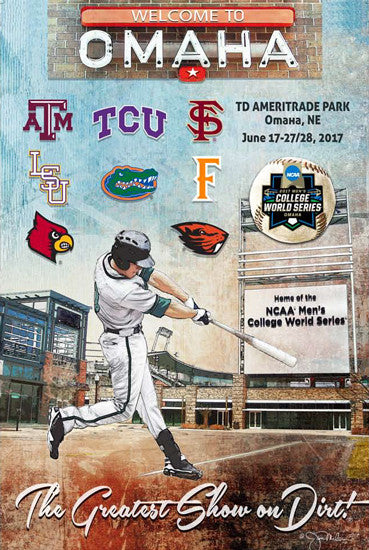 NCAA Baseball College World Series 2017 Official Event Poster - ProGraphs Inc.