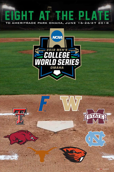 NCAA Baseball 2018 College World Series Official Event Poster - ProGraphs Inc.