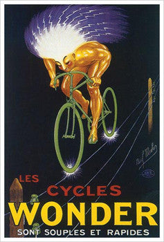 "Les Cycles Wonder ""Electrified"" by Paul Mohr Vintage 1923 Poster Reprint - Eurographics"