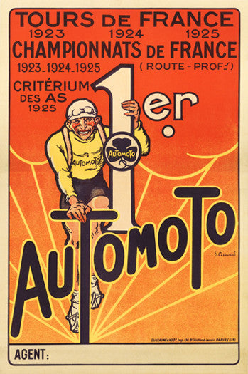 Automoto Bicycles 1925 Vintage Cycling Poster Reprint - The Horton Collection