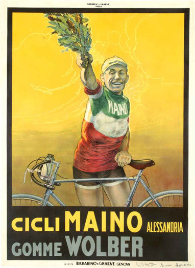Cicli MAINO Alessandria (c.1928) Vintage Cycling Poster Reprint - The Horton Collection