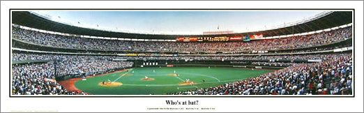 "Cincinnati Reds Cinergy Field ""Who's at bat?"" (1998) Panoramic Poster Print - Everlasting"