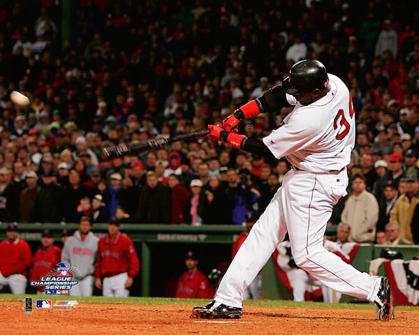 David Ortiz 2004 ALCS Game 4 Walk Off Home Run Boston Red Sox Premium Poster Print - Photofile