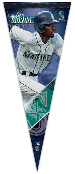 Dee Gordon Seattle Mariners Signature Series Premium Felt Collector's PENNANT - Wincraft