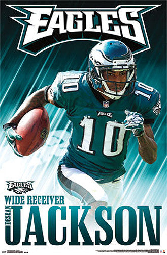 "DeSean Jackson ""Domination"" Philadelphia Eagles Official NFL Football Action Poster - Costacos 2013"