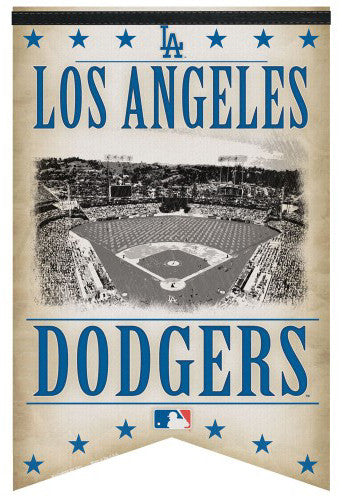 "Los Angeles Dodgers ""Classic Gameday"" Premium Felt Collector's Banner - Wincraft Inc."