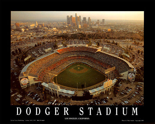 "Dodger Stadium ""From Above"" Premium Poster Print  - Aerial Views Inc."