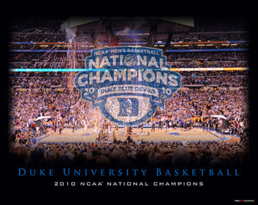 Duke Blue Devils 2010 NCAA Basketball National Champions Commemorative Print - ProGraphs