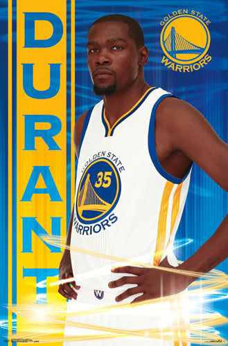 "Kevin Durant ""Golden Star"" Golden State Warriors NBA Basketball Poster - Trends International 2016"