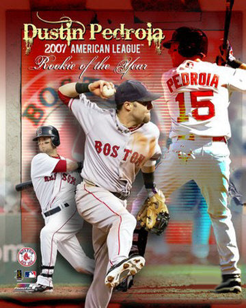Dustin Pedroia 2007 American League Rookie of the Year Boston Red Sox Poster Print - Photofile 16x20