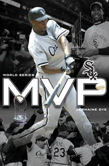 Jermaine Dye 2005 World Series MVP Chicago White Sox Poster - Costacos Sports