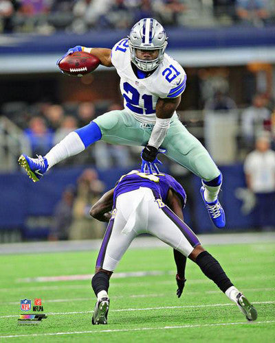 "Ezekiel Elliott ""One Giant Leap"" Dallas Cowboys Premium NFL Poster Print - Photofile 16x20"