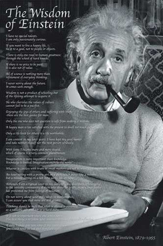 The Wisdom of Albert Einstein Poster (22 Quotations) - Eurographics Inc.
