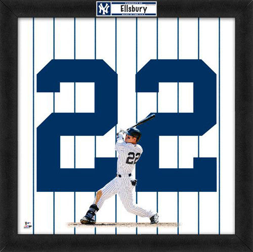 "Jacoby Ellsbury ""Number 22"" New York Yankees FRAMED 20x20 UNIFRAME PRINT - Photofile"