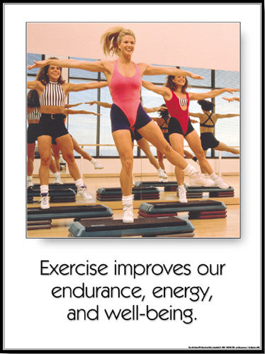 "Aerobics ""Endurance, Energy, Well-Being"" Motivational Poster - Fitnus Corp."