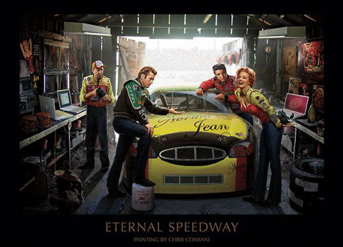 "Legends In Racing Garage ""Eternal Speedway"" by Chris Consani - Jadei Graphics"