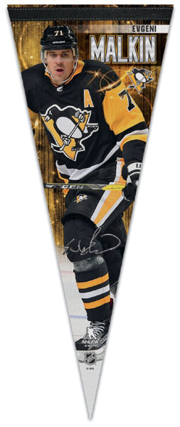 Evgeni Malkin Pittsburgh Penguins Official NHL Hockey Premium Felt Collector's Pennant - Wincraft 2018