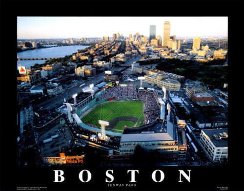 "Fenway Park ""All-Star Sunset"" Premium Poster Print - Aerial Views 1999"