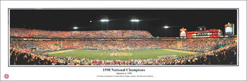 "Tennessee Vols Football ""1998 National Champions"" Fiesta Bowl Panoramic Poster Print - Everlasting"