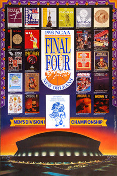 NCAA Men's Basketball Final Four 1993 Official Poster - Action Images
