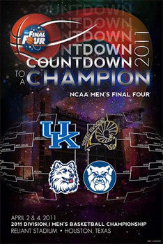 NCAA Men's Basketball Final Four 2011 Official Poster (4 Finalists) - ProGraphs