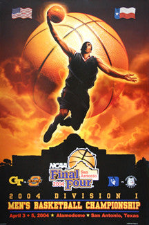 NCAA Men's Basketball Final Four 2004 Official Poster (Final Four Teams) - Action Images Inc.