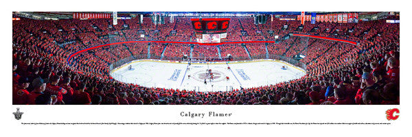 "Calgary Flames ""Sea of Red"" Playoff Game Night Panoramic Poster Print (5/5/2015) - Blakeway"