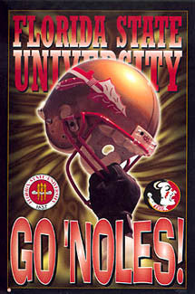 "Florida State Seminoles Football ""Go 'Noles"" Poster - Costacos 1996"