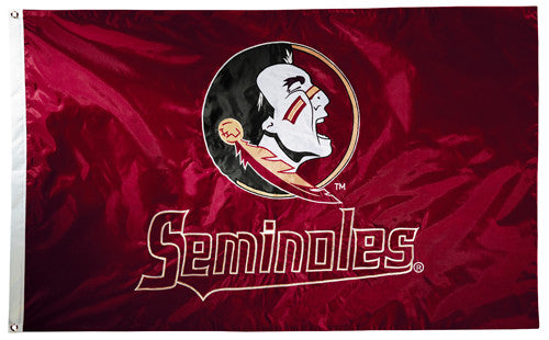 Florida State Seminoles Official NCAA Premium Nylon Applique 3'x5' Flag - BSI Products Inc.
