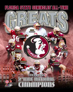 "Florida State Seminoles Football ""All-Time Greats"" (8 Legends) - Photofile Inc."