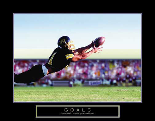 "Football ""Goals"" Motivational Poster (Diving Catch) - Front Line"