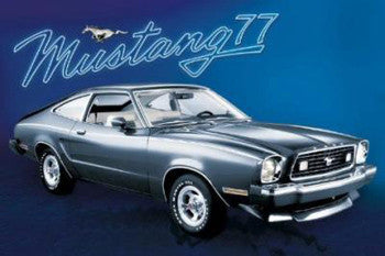 "Ford Mustang ""Mustang 77"" Classic Car Poster - GB Eye"