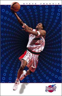 "Steve Francis ""The Zone"" Houston Rockets NBA Basketball Action Poster - Costacos Sports 2000"