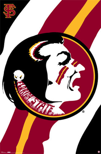 "Florida State Seminoles ""War Cry"" Official NCAA Team Logo Poster - Costacos Sports"