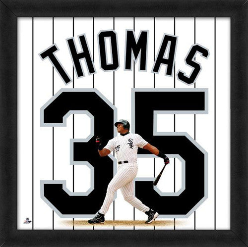 "Frank Thomas ""Number 35"" Chicago White Sox FRAMED 20x20 UNIFRAME PRINT - Photofile"