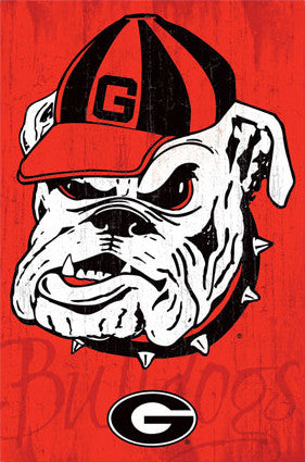 University of Georgia Bulldogs Uga Official NCAA Logo Poster - Costacos 2013