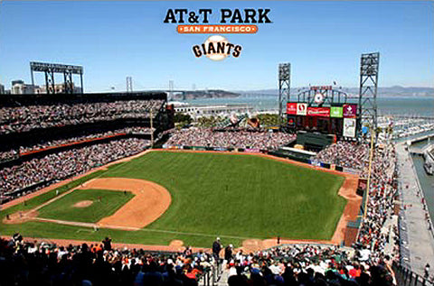 San Francisco Giants AT&T Park Gameday Poster - Costacos Sports