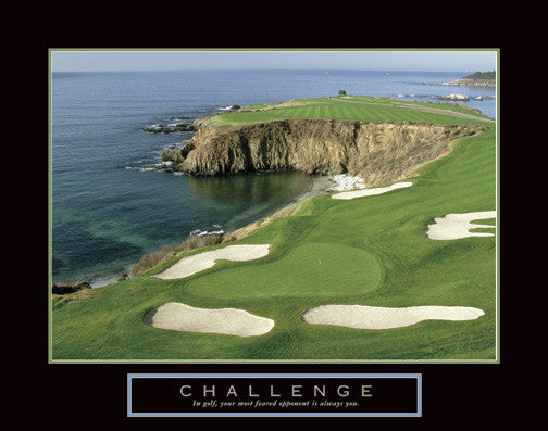 "Golf ""Challenge"" (Oceanside Hole) Motivational Poster - Front Line"