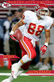 "Tony Gonzalez ""Action"" Kansas City Chiefs Poster - Costacos 2006"