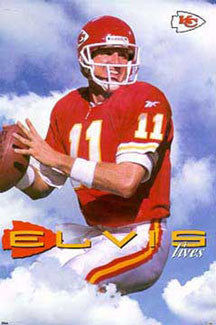"Elvis Grbac ""Elvis Lives"" Kansas City Chiefs Poster - Costacos 1998"