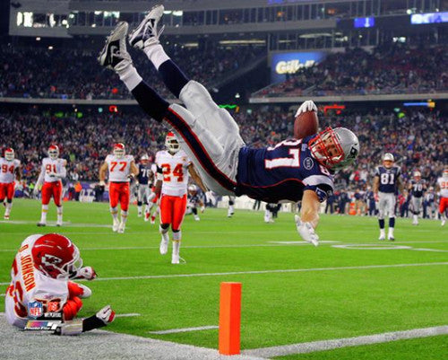 "Rob Gronkowski ""High-Flyer"" New England Patriots Premium Poster Print - Photofile 16x20"