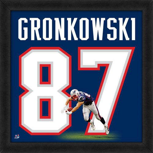 "Rob Gronkowski ""Number 87"" New England Patriots FRAMED 20x20 UNIFRAME PRINT - Photofile"