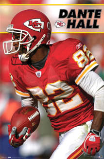 "Dante Hall ""Action"" Kansas City Chiefs NFL Action Poster - Costacos 2006"