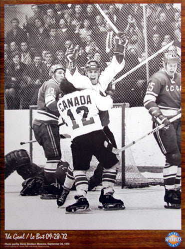 "Paul Henderson ""The Goal"" Team Canada Summit Series 1972 Winning Goal Poster"