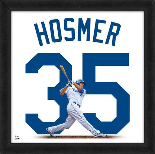 "Eric Hosmer ""Number 35"" Kansas City Royals FRAMED 20x20 UNIFRAME PRINT - Photofile"