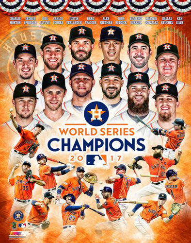 Houston Astros 2017 World Series Champions 12-Stars Premium Poster Print - Photofile Inc.