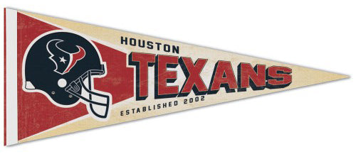 Houston Texans NFL Retro-Style Premium Felt Collector's Pennant - Wincraft Inc.