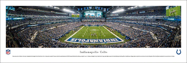 Indianapolis Colts Lucas Oil Stadium Gameday Panoramic Poster (2017) - Blakeway